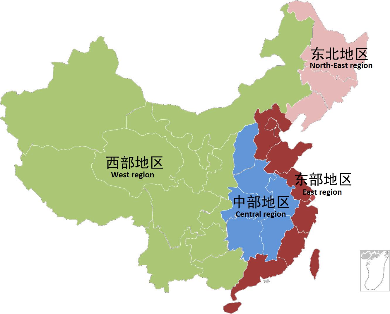 Coal region map